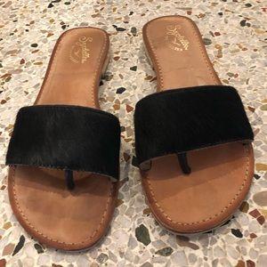 Seychelles faux fur sandals